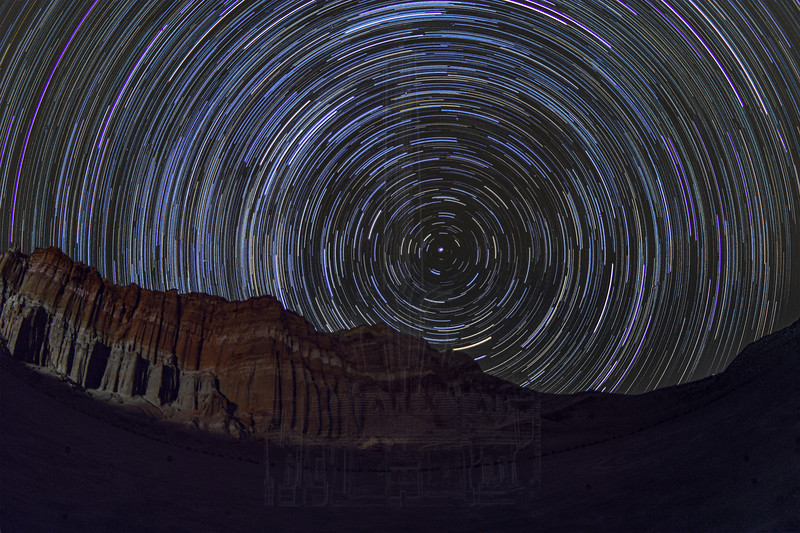 Star Trails at the Red Cliffs