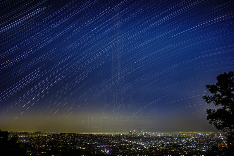 Star Trails over Los Angeles.