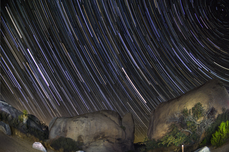 Star Trails towards the West.