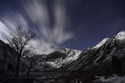 Streaking Clouds & Stars over Convict Lake