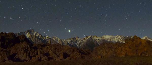 Stars Over  Mt. Whitney & The Sierra's