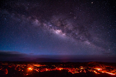 Milky Way over Lava