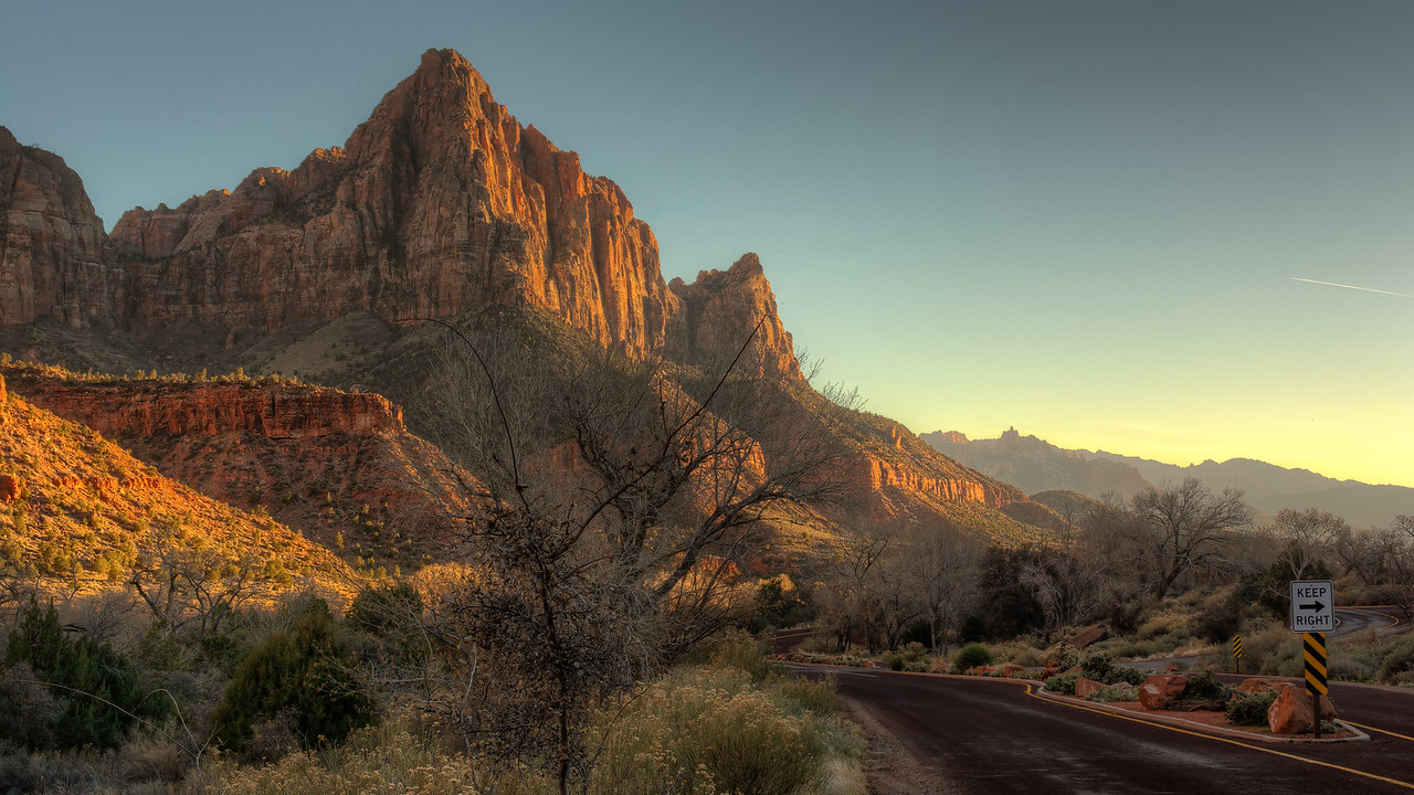 Sunset at Zion