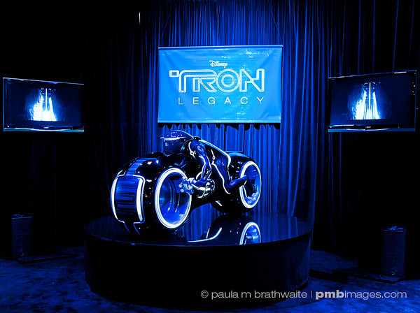 Disney's exhibit and display for the movie, Tron: The Legacy.