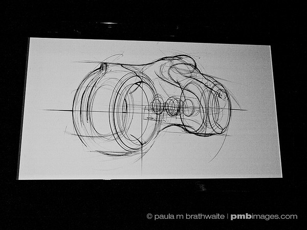 Preliminary design and drawings for the Disney movie, Tron: The Legacy.