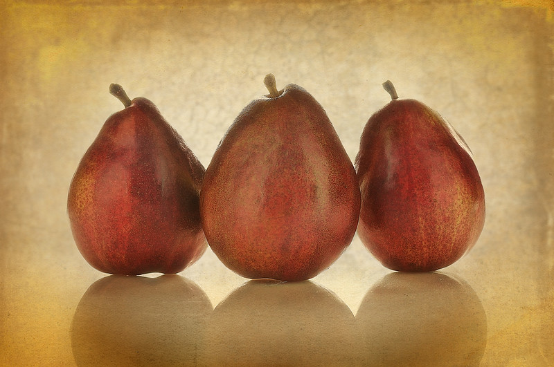 Red Anjou Pears.