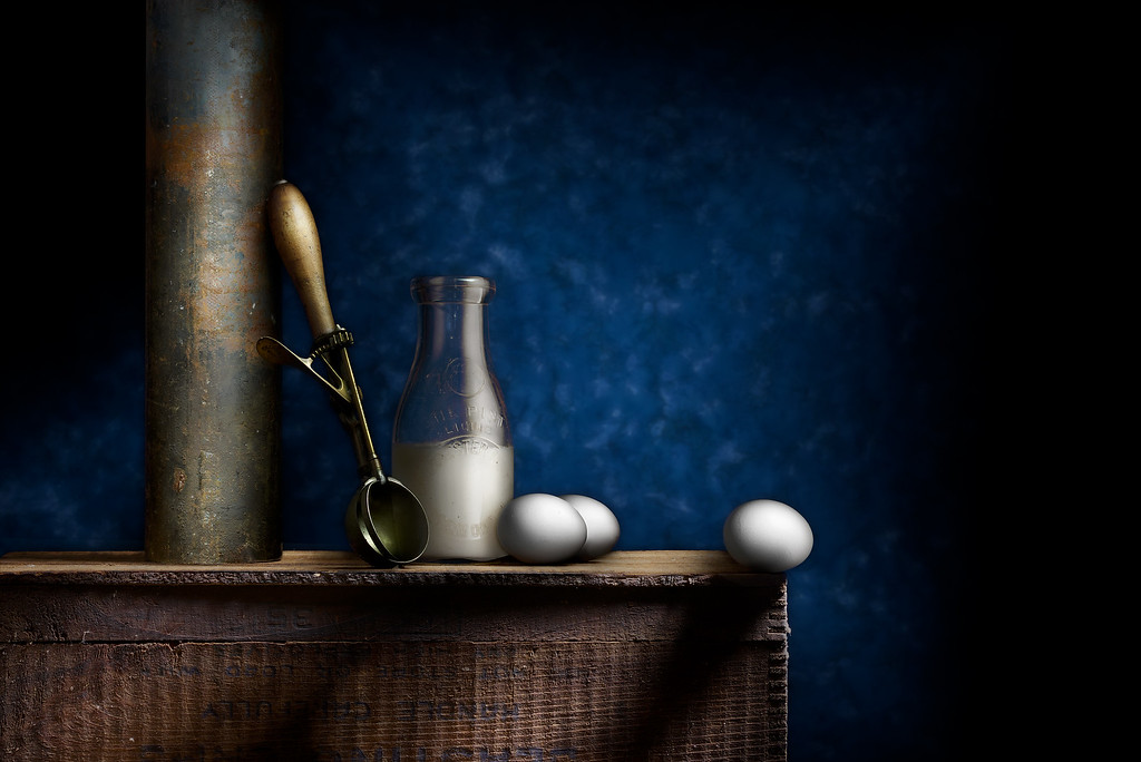 Still Life with Ice Cream Scoop and Eggs