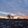 Sunset near Geneseo.  Nikon D750 and 20mm f/1.8G lens (January 2016)