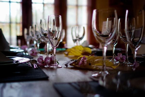 la décoration sur la table