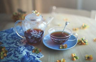 Happiness begins with a cup of tea. --Unknown quote.