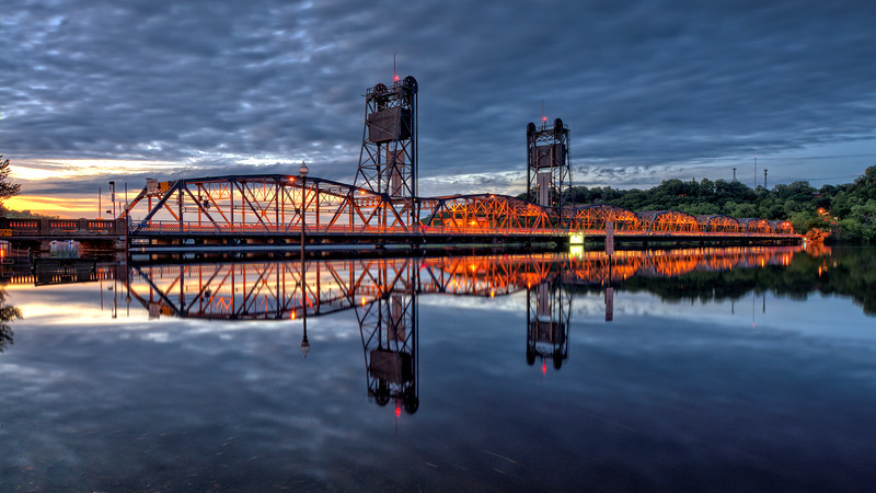Sunset over the Stillwater Lift Bridge