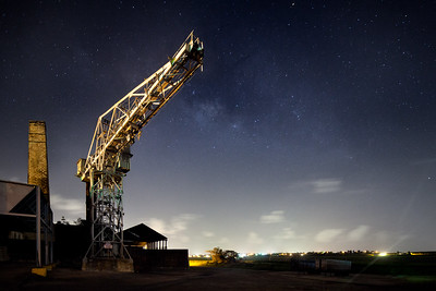 An old sugar factory and the milky way