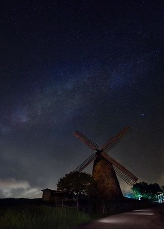 The world famous Morgan Lewis mill under the milky way