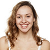 portrait of happy young woman without make-up