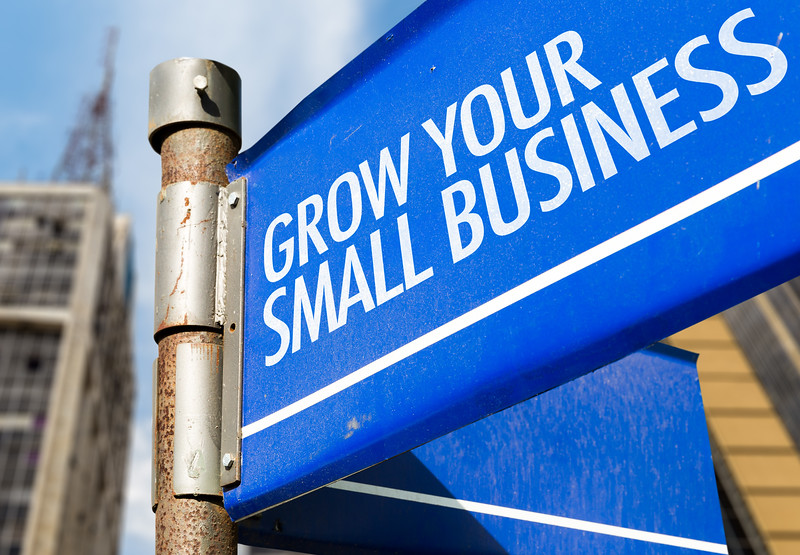 Grow Your Small Business written on road sign