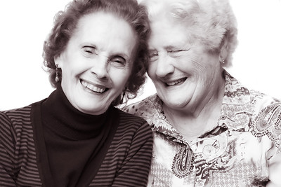 Old ladies laughing