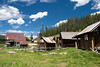 USA, Idaho, Idaho County, Burgdorf Hot Springs Old Log Buildings - 6320
