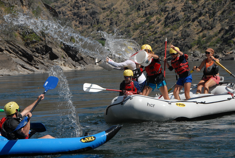 0148:  Water Fight wile Rafting the Salmon River