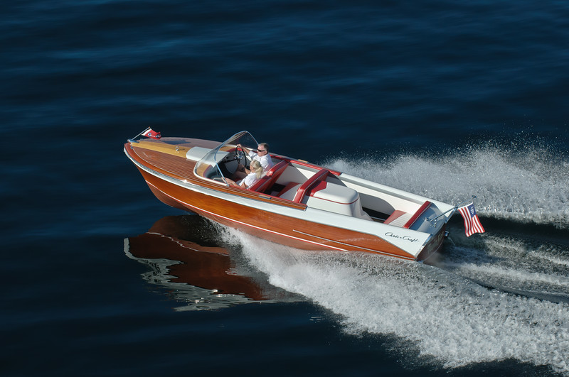 4332: Classic Wood Boat on Payette Lake