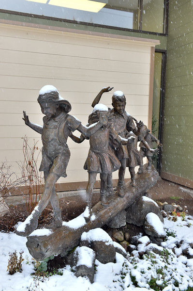 7806:  Statue at McCall Public Library