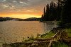 4966: Sunrise on Brundage Reservoir. Payette National Forest.
