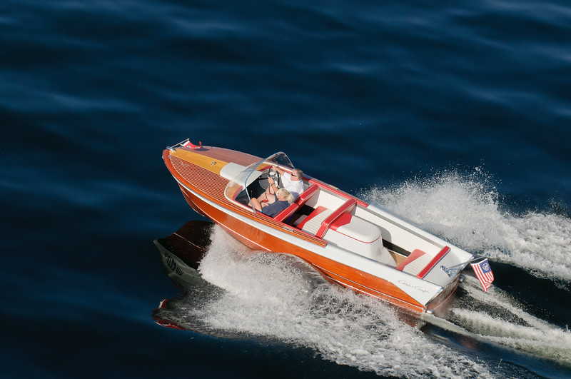 4293: Classic Wood Boat on Payette Lake