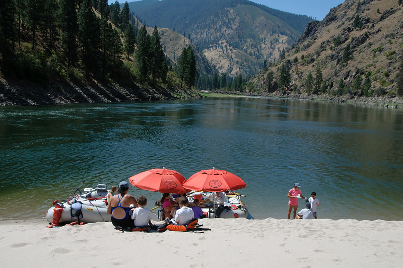 2489:  Rafting on the Salmon River.  Lunch