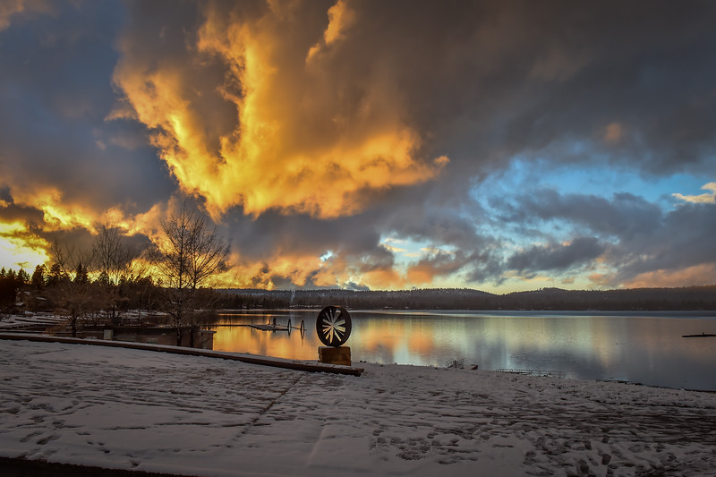 7829: Winter Sunset at Legacy Park