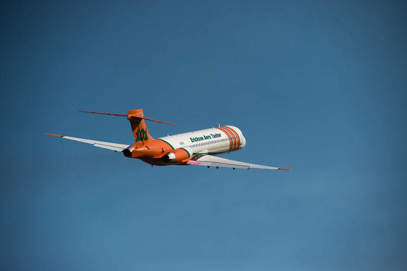 USA, Idaho, Valley County, McCall, Aero Tanker Takes Off from McCall Airport - 1620