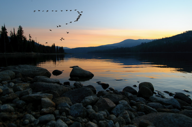 4401: Sunrise at Upper Payette Lake