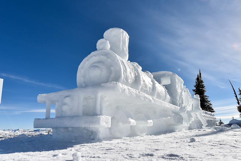 6326:  Snow Sculpture at Brundage Mountain