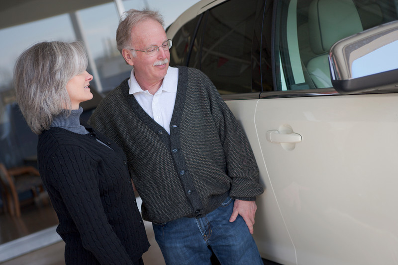"Mature couple  purchases new car.  <a href=""http://www.istockphoto.com/file_search.php?action=file&lightboxID=5706230"">Available for purchase from William Britten iStockphoto</a>"