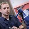"""Auto mechanic doing repair.  <a href=""""http://www.istockphoto.com/file_search.php?action=file&lightboxID=5706230"""">Available for purchase from William Britten iStockphoto</a>"""