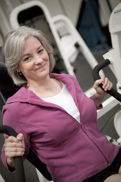 Mature woman maintains fitness. Available for purchase from William Britten ...