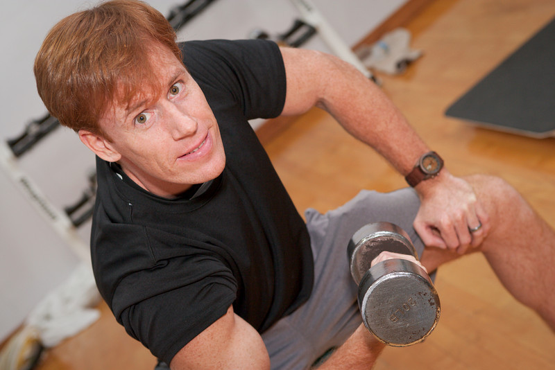 """Mature man maintains fitness. <a href=""""http://www.istockphoto.com/file_search.php?action=file&lightboxID=5575619"""">Available for purchase from William Britten iStockphoto</a>"""