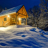 Snowbound mountain cabin