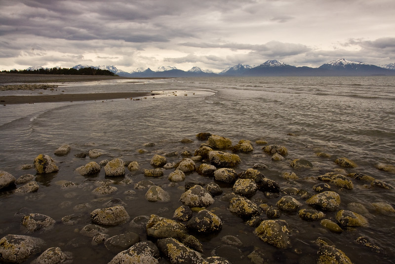 view from Homer Spit across Katchamack Bay