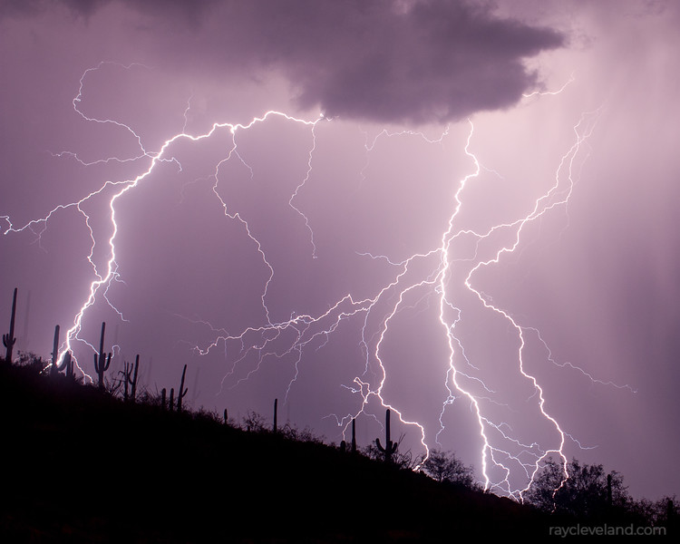 Monsoon Storm From Babad Do'ag Vista Point Mt. Lemon