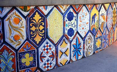 Tile Art, Piazza Villaggio, San Diego, CA.  ©JLCramerPhotography 2008