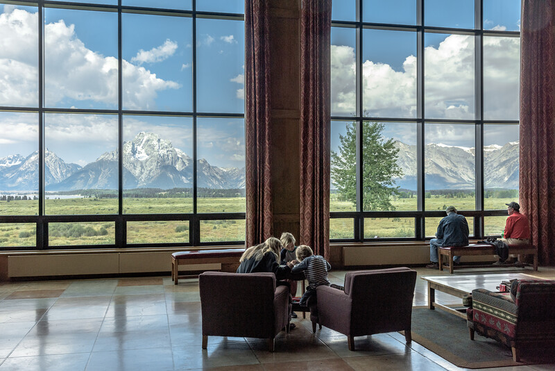 """Lodge Life""   Jackson Lodge, Grand Teton National Park (2018)    NWCCC Traveling Print Salon 'People's Choice 2019'"