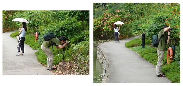 The unyielding guy - can sense his girlfriend was furiously waiting while his taking his sweet time to catch a good shot.