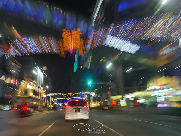 Travelling along Orchard Rd, X'mas 2015