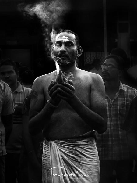 Prayer before carrying the kavadi