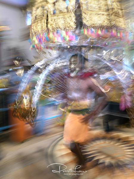This was taken with a slightly different approach - a slow shutter speed and some intentional jerking/panning of the lens to bring out the pulsating action.