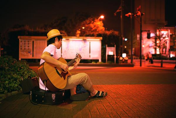 Guitarist in Red
