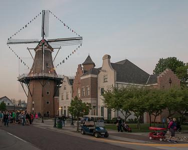 Tulip Time 03 Vermeer Mill as Dusk 01-2