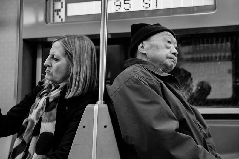 Strangers on the subway