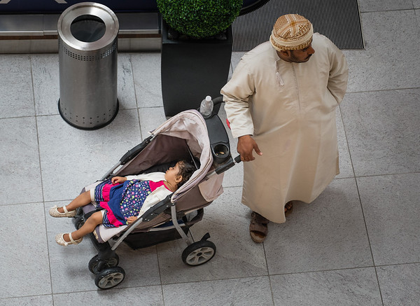 Taking the little girl out for a stroll, Dubai Mall