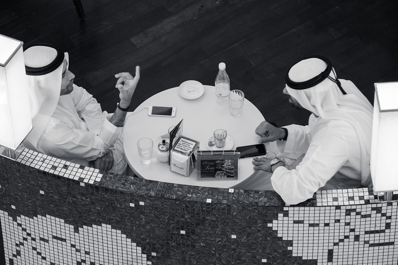 Discussing life, Dubai Mall