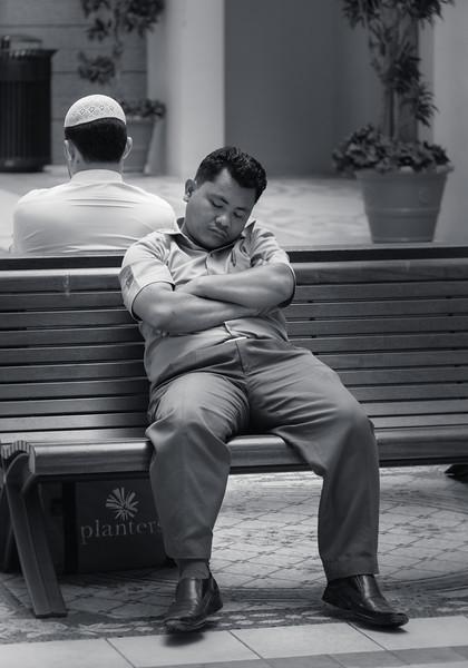 Time for a nap, Dubai Mall